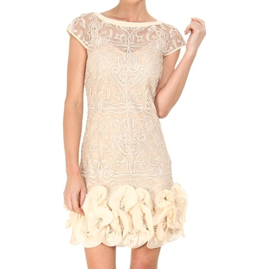 eb62d8c6f89 Shop Jessica Simpson NEW Beige Women s Size 4 Sheath Embroidered Dress -  Free Shipping On Orders Over  45 - Overstock - 17098955