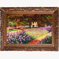 Artist's Garden at Giverny by Claude Monet Framed Hand Painted Oil on Canvas