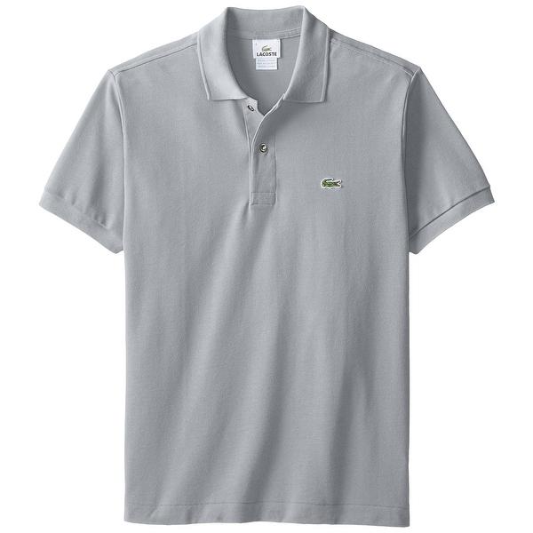 6331276cf3 Shop Lacoste Gray Mens Size US XL FR 7 Logo Pique Knit Polo Shirt ...