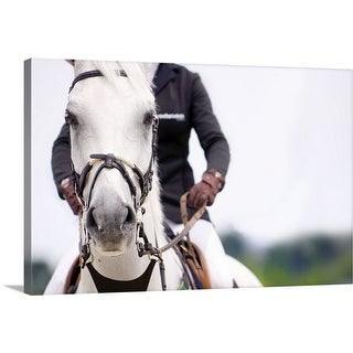 """""""Man on white horse"""" Canvas Wall Art"""