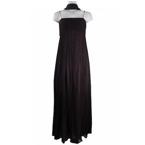 JS Collections Ruched Chiffon Dress with Matching Shawl, Black, 12