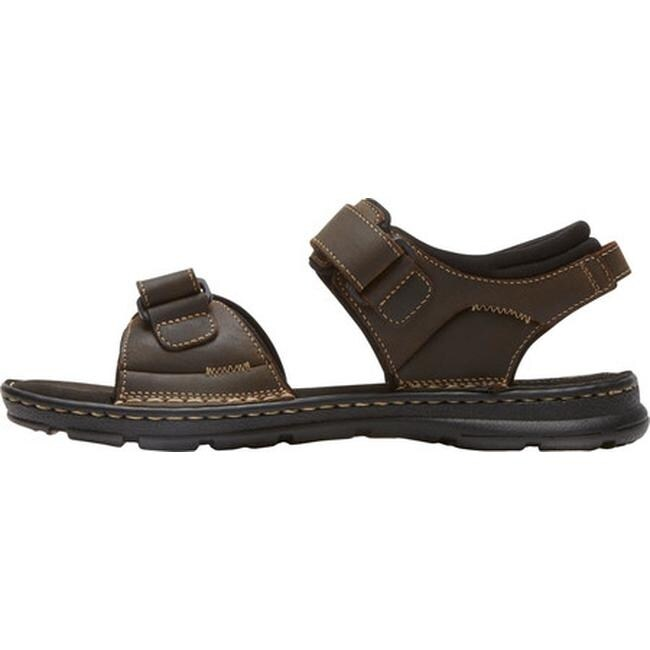 17feb4e3b Shop Rockport Men s Darwyn Quarter Strap Sandal Brown II Leather - Free  Shipping Today - Overstock - 15362624