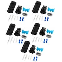 Unique Bargains Cable Connector Plug in Waterproof Electrical Car Motorcycle HID 5 Set