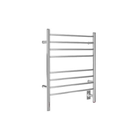Ancona 8-Bar Wall Mounted Towel Warmer with Integrated On-Board Timer