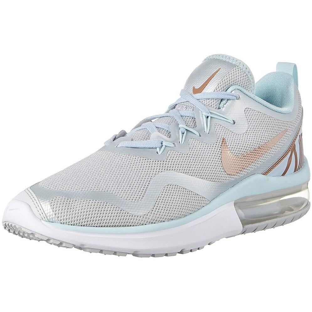 mode designer e69fe c4f1a Nike Women's Shoes Air Max Fury Sneakers Pure Platinum Metallic Red Bronze  ...
