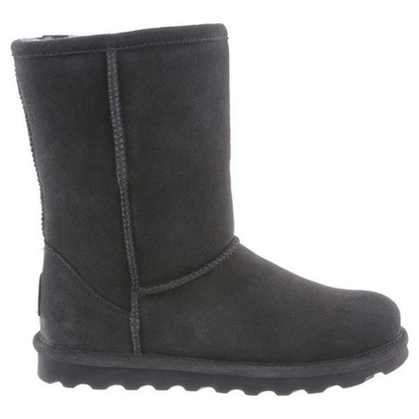 Elle Short Wide Boot Charcoal Suede