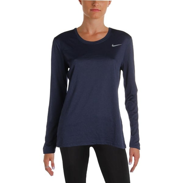 ab7321bf75762 Shop Nike Womens Dri-Fit T-Shirt Fitness Workout - Free Shipping On Orders  Over $45 - Overstock - 26033545