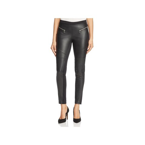 MICHAEL Michael Kors Womens Leggings Faux Leather Comfort Waist