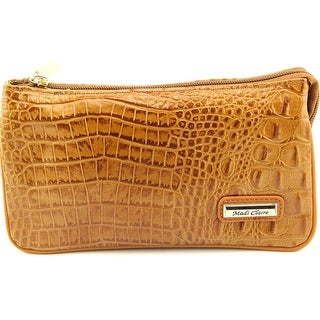 Madi Claire 4973 Women Leather Tan Clutch - Beige