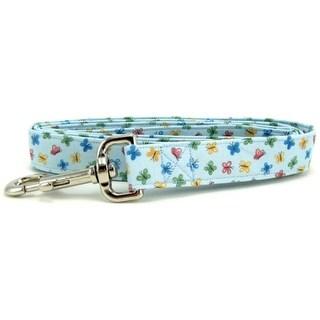 Pastel Blue Butterflies Dog Leash