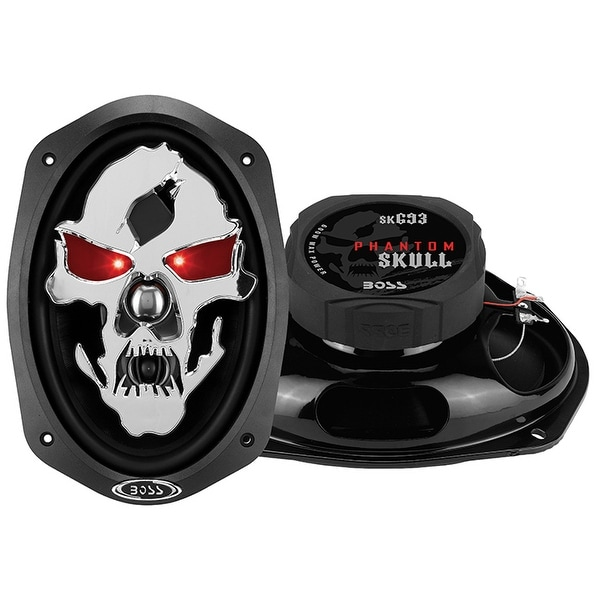 "Boss Phantom Skull 6x9"" 3-Way Speaker 600W Max"