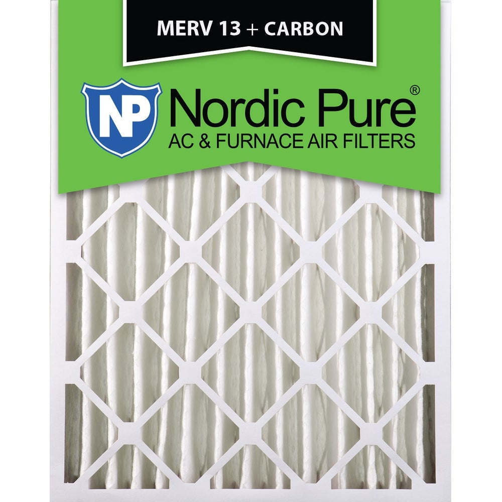 6 Pack 6 Piece Nordic Pure 12x24x4 MERV 8 Pleated Plus Carbon AC Furnace Air Filters
