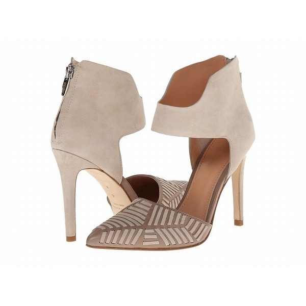 Sigerson Morrison NEW Beige Shoes Size 6.5M Stilettos Suede Heels