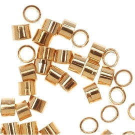 22K Gold Plated Crimp Beads 1.8 x 1.5mm (144)