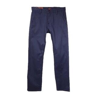 Dockers Men's Slim-Tapered Alpha Khaki Pants (Carbon Blue, 30x32) - Carbon Blue - 30x32