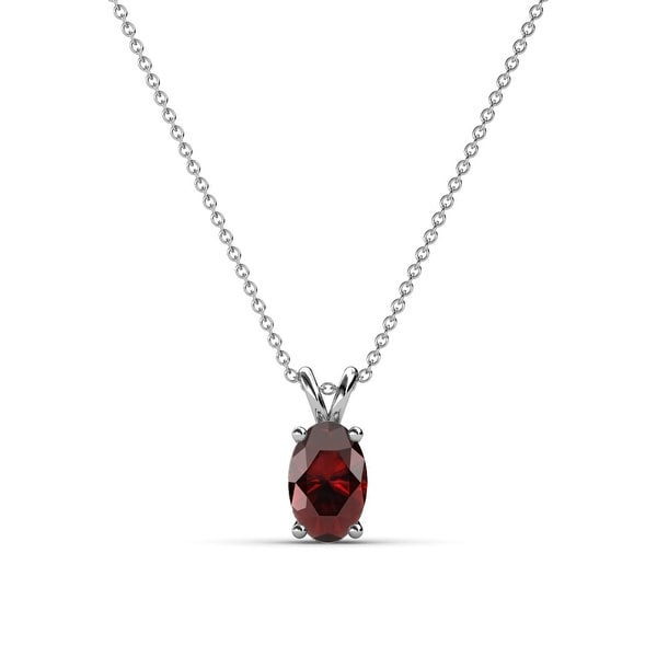 TriJewels Oval Cut Gemstone Womens Solitaire Pendant Necklace 14K Gold. Opens flyout.