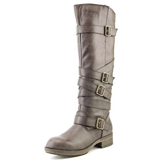 Madden Girl Lilith Wide Calf Women Round Toe Synthetic Brown Knee High Boot