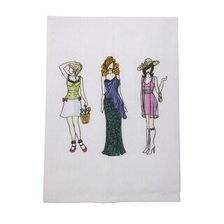 Fashionista Graphic Printed Cotton Tea Towel