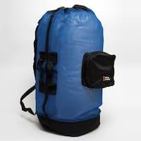 Natl Geographic Clam Shell Mesh Back Pack Dlx 5 Pocket Black