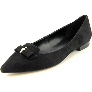 Cole Haan Saville Skimmer Women Pointed Toe Suede Black Flats