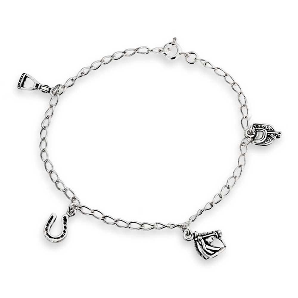 Horseshoe Horses Charm Bracelet
