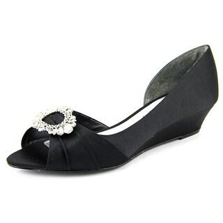 Nina Rivka Open Toe Canvas Wedge Heel