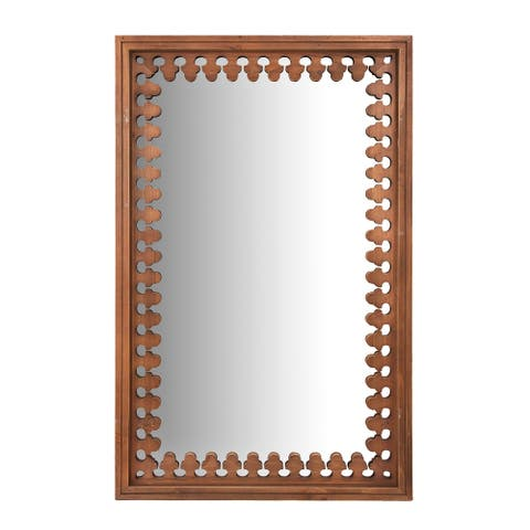"""43.25"""" Wood Wall Mirror - Stained"""
