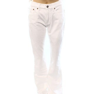Polo Ralph Lauren NEW Clean White Women's Size 26X35 Flare Jeans