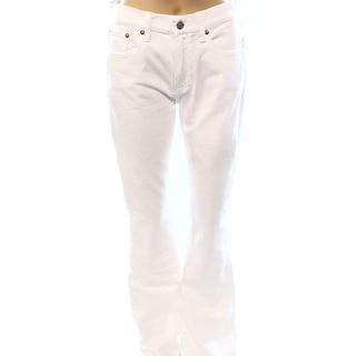 Polo Ralph Lauren NEW White Denim Women's Size 30X35 Flare Leg Jeans