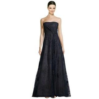 Rene Ruiz Strapless Embellished Tulle Evening Ball Gown Dress - 6