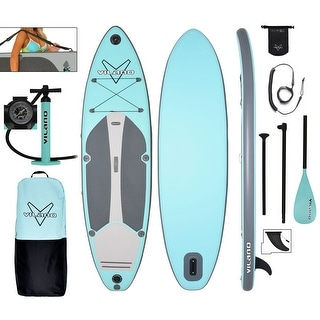 "Link to Vilano Navigator 10' 6"" Inflatable SUP Stand Up Paddle Board Package Similar Items in Boats & Kayaks"