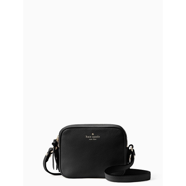 67da1a4ac Kate Spade New York Mulberry Street Pyper Pebbled Leather Crossbody  Shoulder Bag (Black)