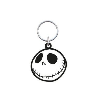 Nightmare Before Christmas Soft Touch PVC Key Ring: Jack Skellington, Smiling - Multi