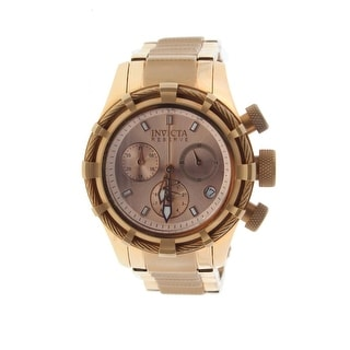 Invicta Womens Bolt Rose Gold Plated Chronograph Watch - Rose Gold
