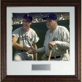 Babe Ruth unsigned New York Yankees Vintage 11X14 Photo Custom Leather Framed