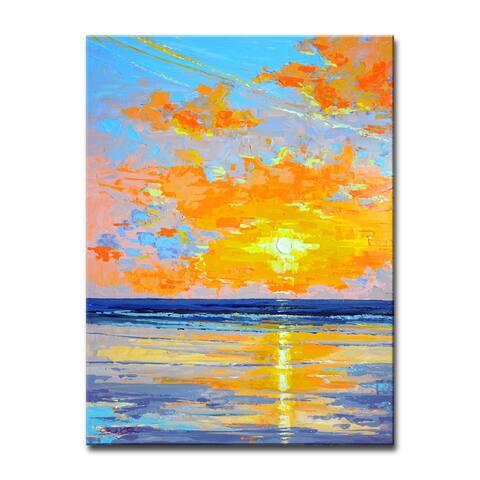 Porch & Den Sunrise Shore' Coastal Canvas Wall Art