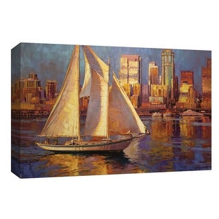 "PTM Images 9-148122  PTM Canvas Collection 8"" x 10"" - ""Emerald City"" Giclee Sailboats Art Print on Canvas"