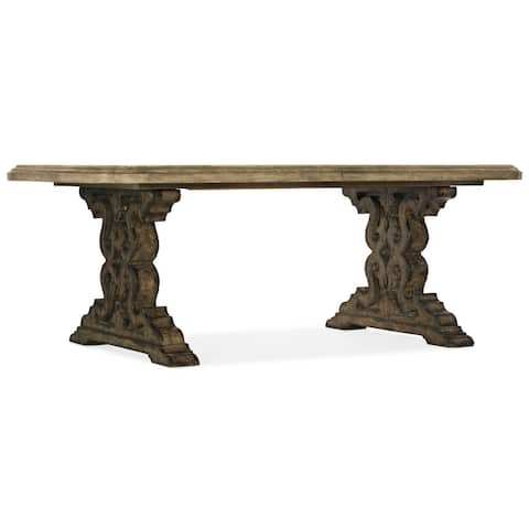 "Hooker Furniture 6960-75200 Le Vieux 86""W Rustic Luxury Formal Double - Flemish Barnwood"