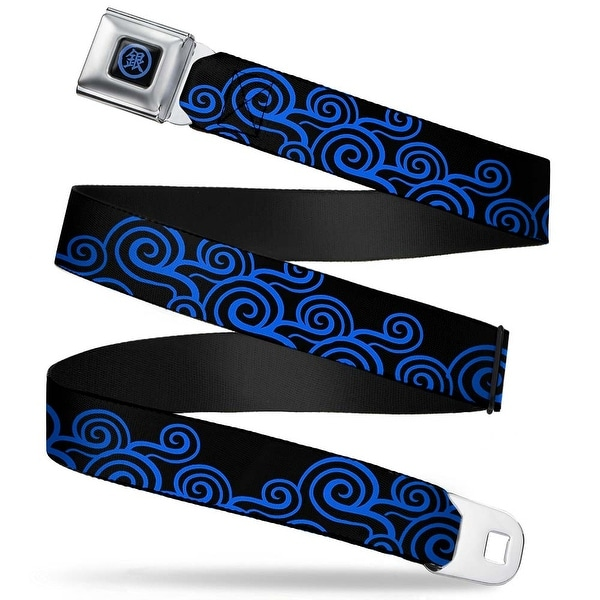 Crunchyroll Gintoki Kanji Full Color Black Blue Gintoki Kimono Waves2 Black Seatbelt Belt