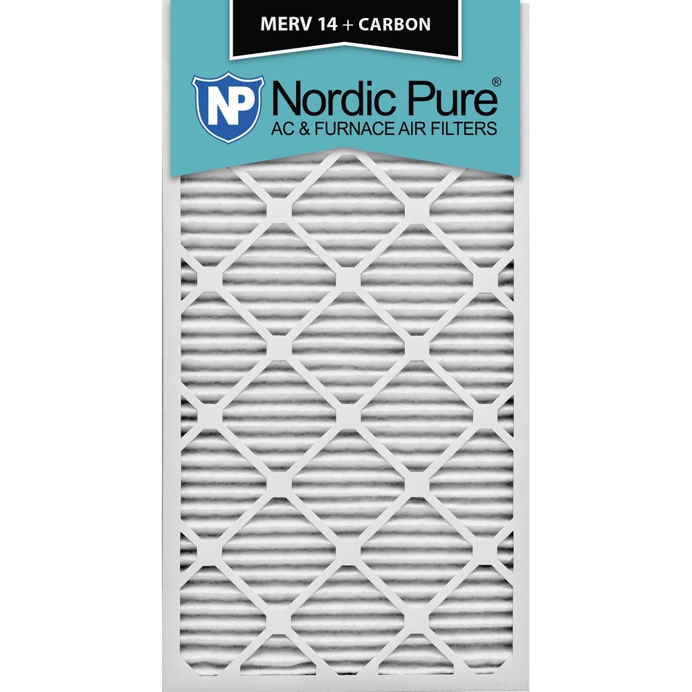 Nordic Pure 18x30x1 MERV 14 Plus Carbon AC Furnace Air Filters Qty 6