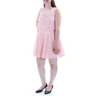 AS YOU WISH $49 Womens New 1127 Pink Eyelet A-Line Dress 13 Juniors B+B