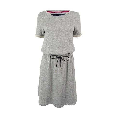 Tommy Hilfiger Women's Drawstring Waist Sweater Dress