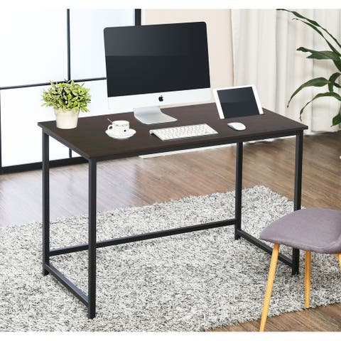 FITUEYES Writing Desk with Slot Wood Study Computer Desk