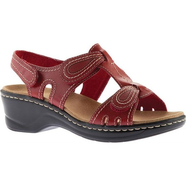 a24edd0cbde5 Shop Clarks Women s Lexi Walnut Sandal Red Cow Full Grain Leather ...