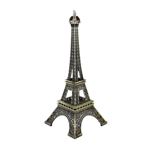 25.5cm Antiqued Bronze Tone France Miniature Eiffel Tower Model Decor - Bronze Tone