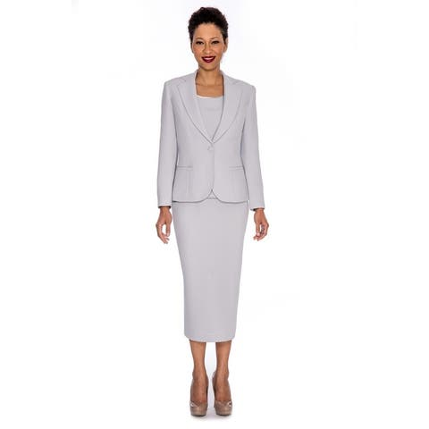 Giovanna Signature Women's Notch Collar 3-pc Skirt Suit