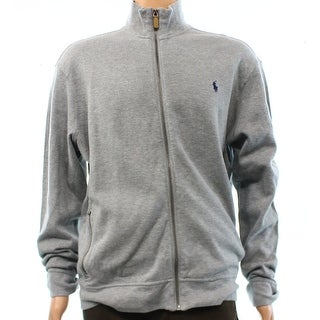Polo Ralph Lauren NEW Gray Mens Size Small S Full Zip Cotton Sweater