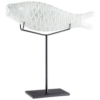 Cyan Design 10036  Grouper Glass and Iron Fish Statue - Frosted Ice
