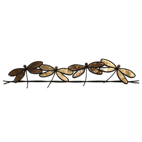 Dragonflies On A Wire Brown - 1 x 28 x 7