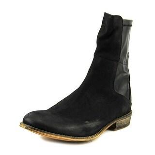 Rebels Vega Women Round Toe Leather Black Ankle Boot